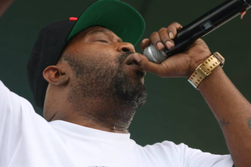 Bun B performs at Hiero Day in West Oakland, Sept. 4, 2017.
