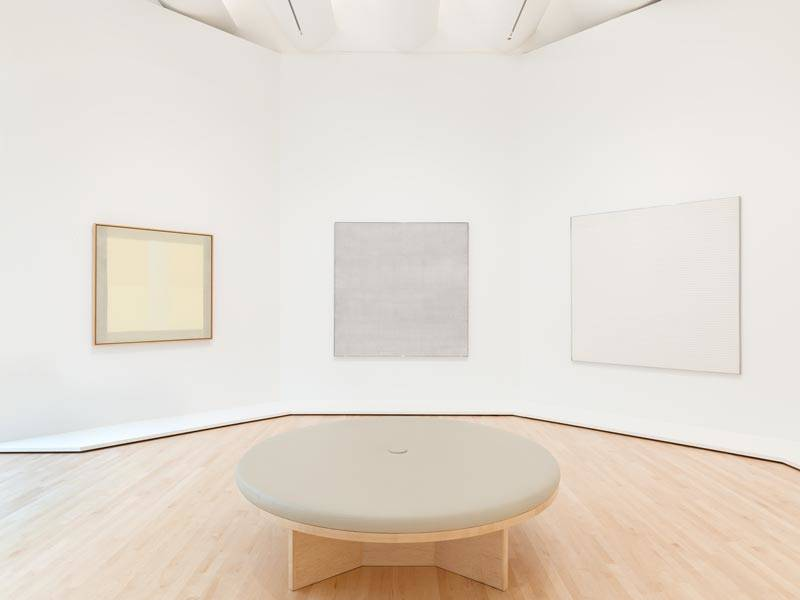 Agnes Martin gallery at SFMOMA.