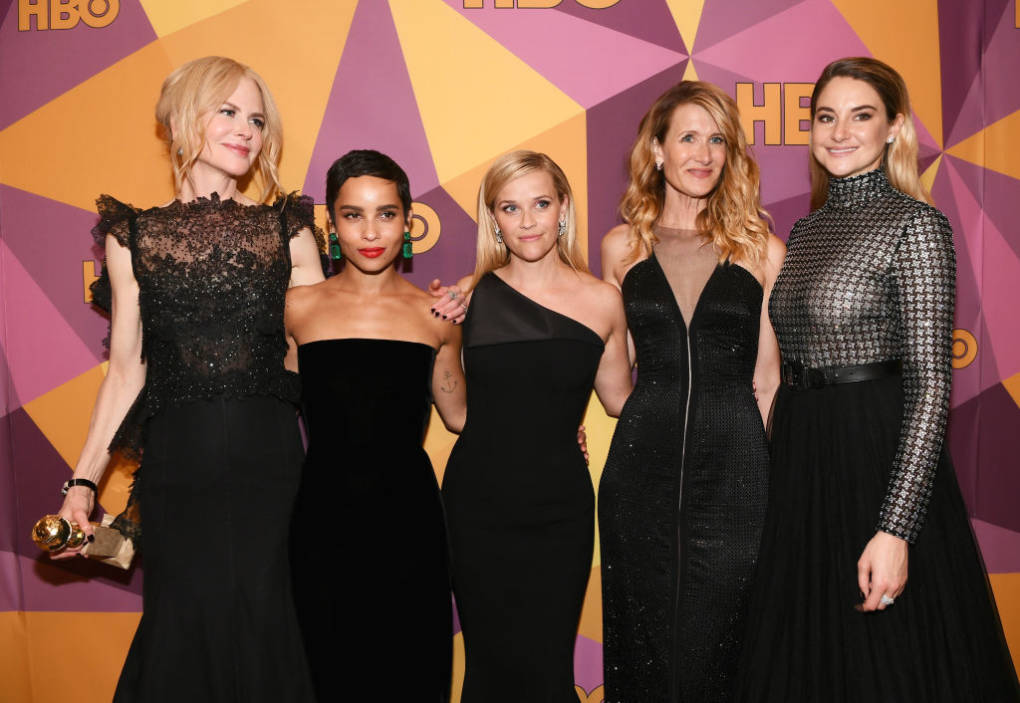 Nicole Kidman, Zoe Kravitz, Reese Witherspoon, Laura Dern and Shailene  Woodley of 'Big Little Lies' attend HBO's Official Golden Globe Awards After  Party ...