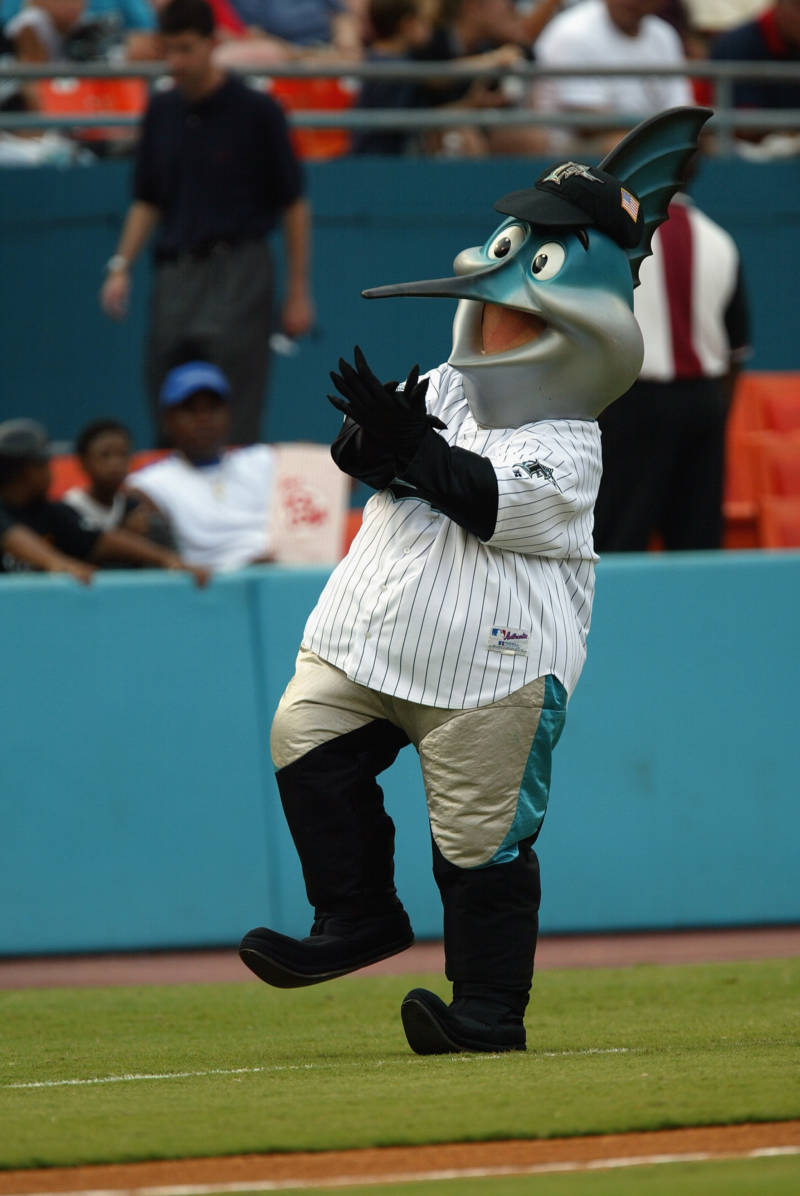 Billy the Marlin, the Florida Marlins Mascot in Miami, Florida.