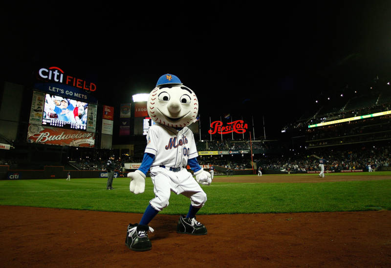 Mr Met, April 3, 2009, at Citi Field, New York City.