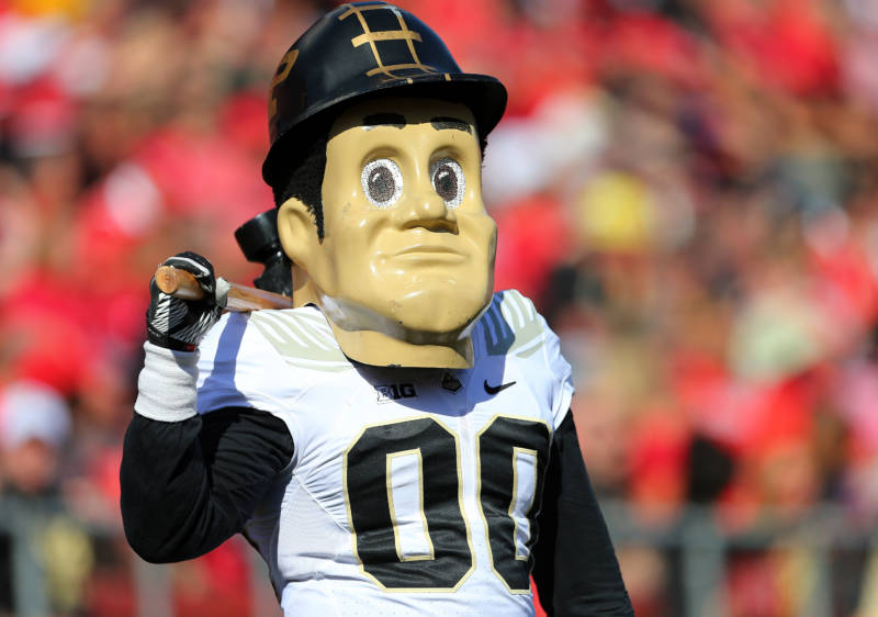 Purdue Pete, mascot of Purdue Boilermakers, October 21, 2017, Piscataway, New Jersey.