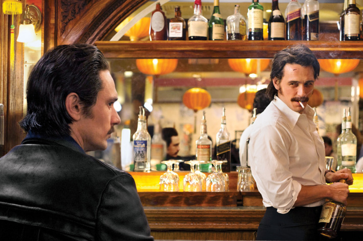 James Franco starring as Vincent and Frankie Martino in HBO's 'The Deuce'.