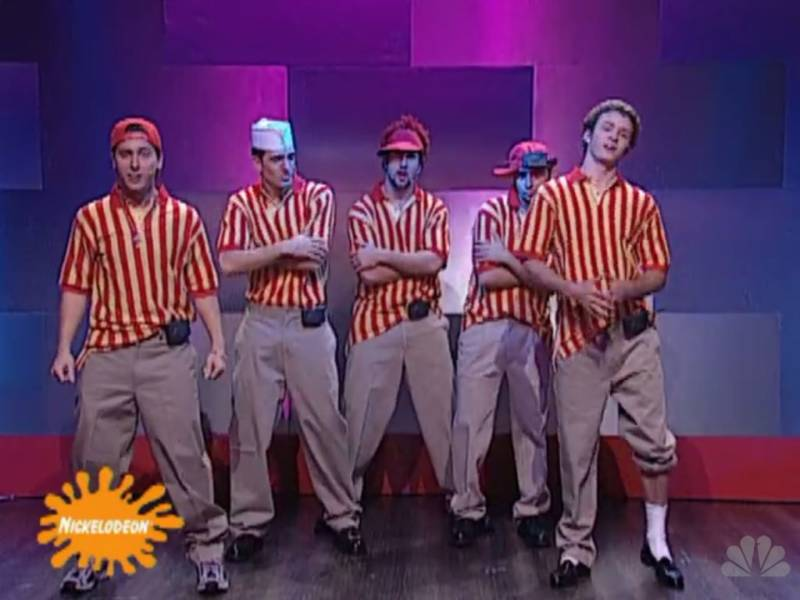 *NSYNC as No Refunds on 'Saturday Night Live' (NBC)