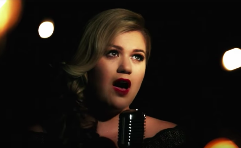 "These are the only microphones available in December. (Kelly Clarkson, ""Wrapped In Red"")"