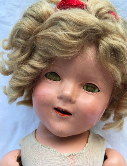 A 1930s Shirley Temple doll, currently for sale on eBay, for $119.