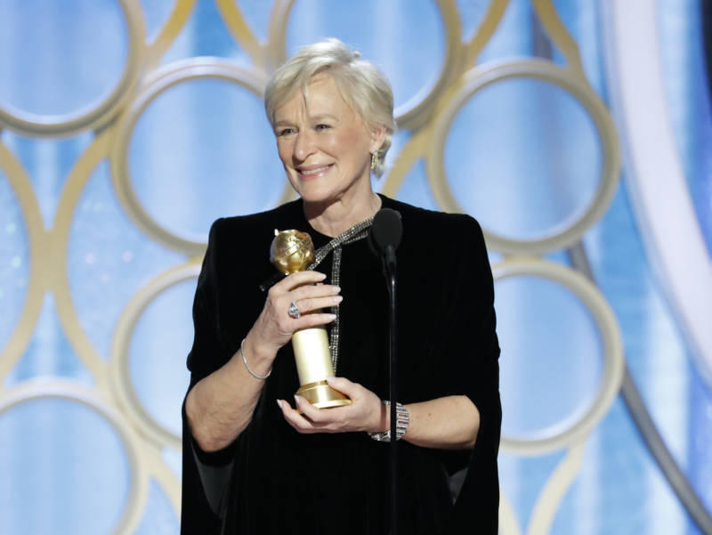 Glenn Close at the 76th Golden Globe Awards.