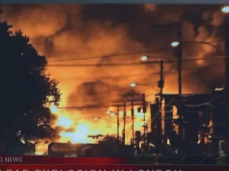 Netflix used video footage from an oil train disaster in Lac-Megantic, Quebec, in both 'Travelers' and 'Birdbox'. The use of the footage has angered Canadians.