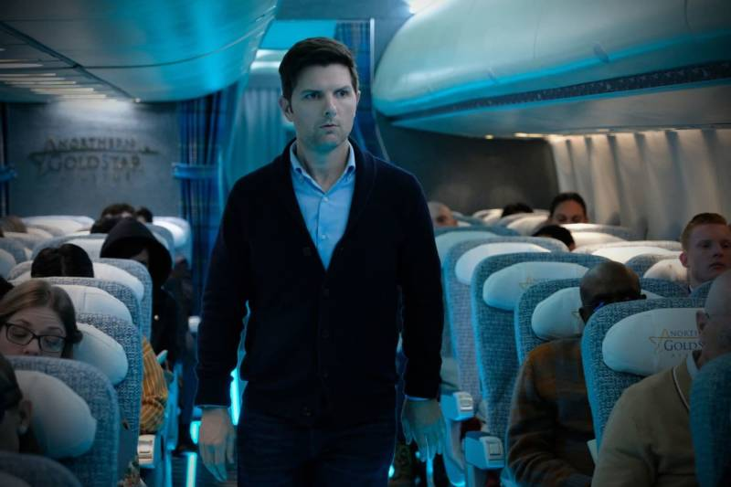 "Adam Scott in ""Nightmare At 30,000 Feet."""