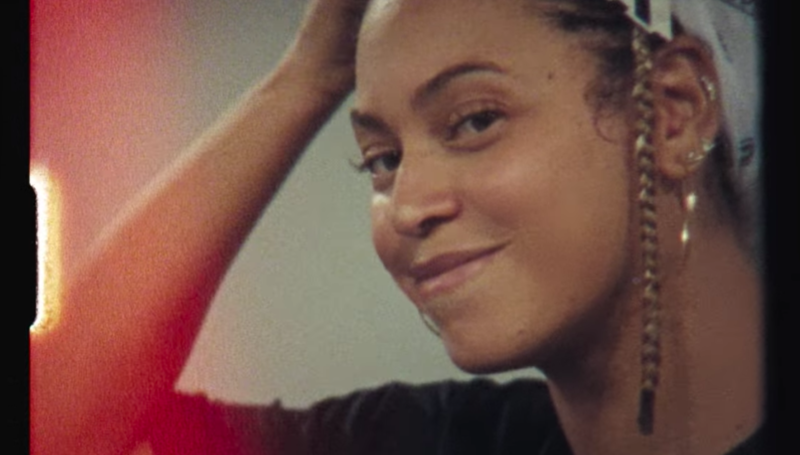 Beyoncé, mid-rehearsal, in 'Homecoming.'