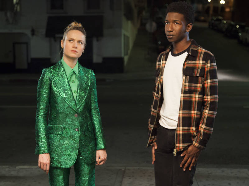 Brie Larson and Mamoudou Athie see some interesting stuff (and she wears some pretty great outfits) in 'Unicorn Store.'