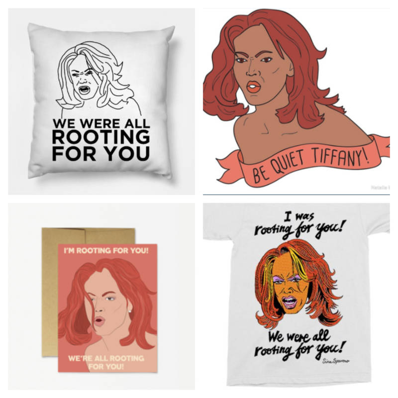 Tyra Merch! Pillow: Teepublic.com/ Pin: Red Bubble - Natalie Marsh/ Card: FelizModern.com/ Shirt: Etsy - ThatSparrowBoy