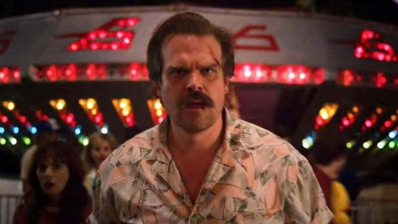 Jim Hopper on the case, Season 3, 'Stranger Things'.