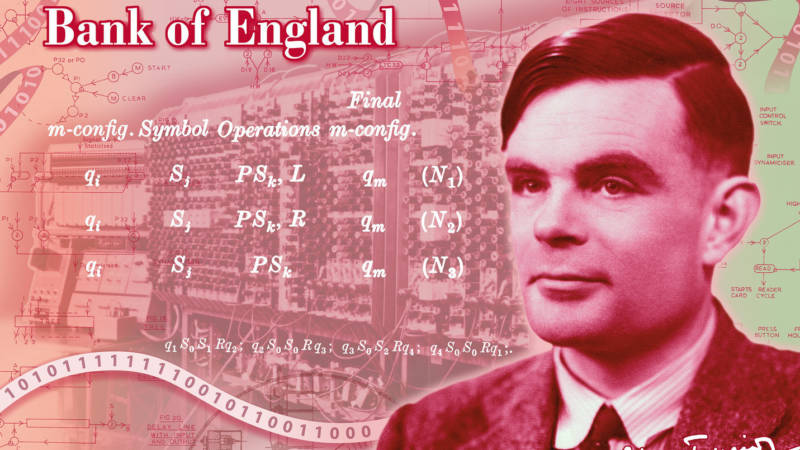 Alan Turing, LGBTQ and Tech Hero, Will Grace Britain's New 50-Pound Note