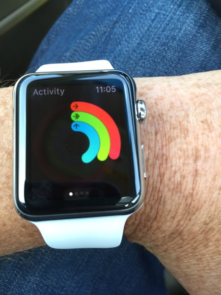 Analyst Ben Bajarin received early access to the Apple Watch, which he uses during exercize