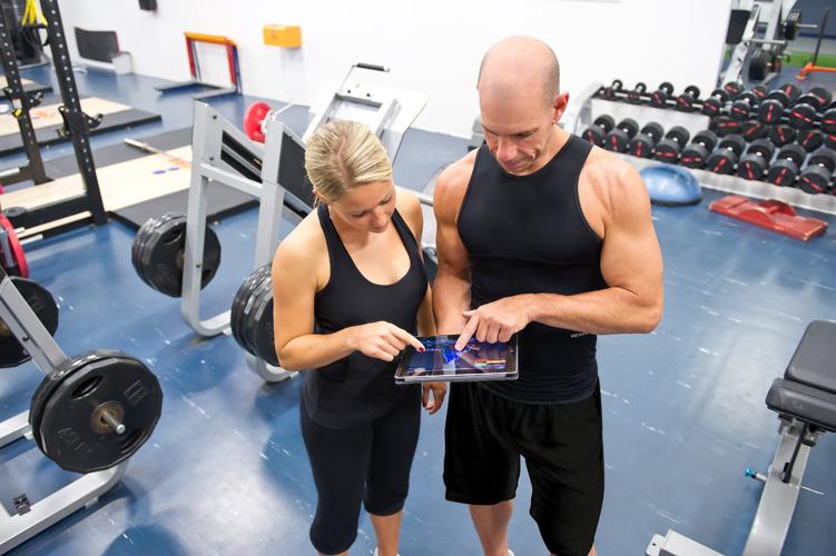 Gym-goers wearing gear from Hexoskin
