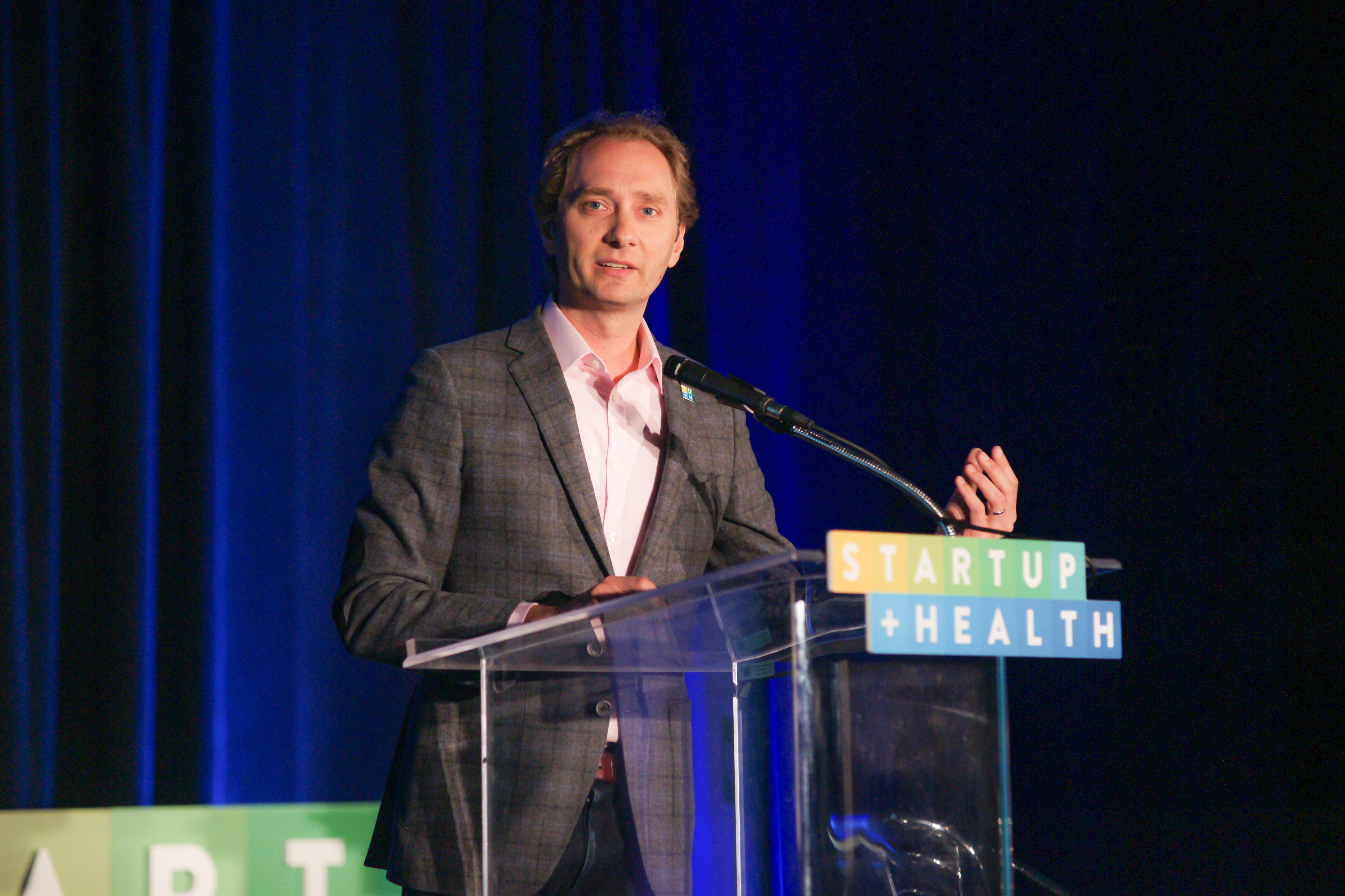 StartUp Health co-founder Unity Stoakes, speaking in Washington D.C. at Health Datapalooze 2015. (StartUp Health)