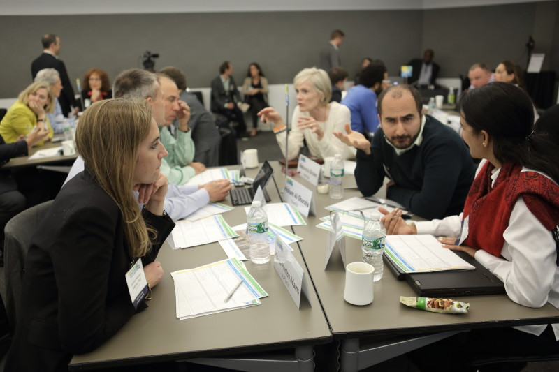 StartUp Health entrepreneurs at the company's quarterly summit in New York, in April 2015. (StartUp Health)