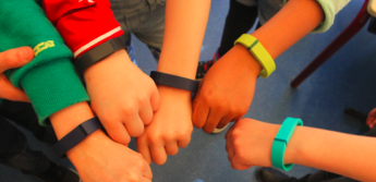 Students wear a variety of activity bands
