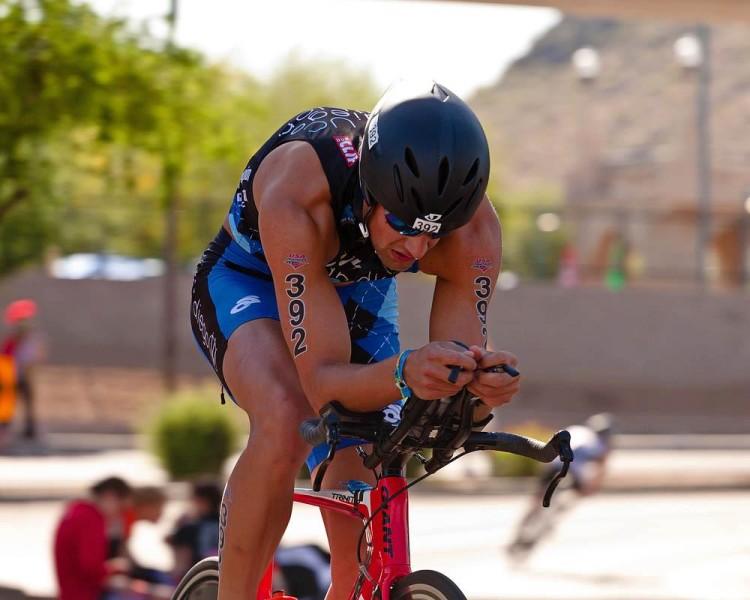 ryce Zaffarano, a high-risk melanoma patient, still enjoys outdoor activities, like triathlons.