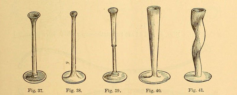 Early stethoscopes from the 1874 book Clinical Lectures on the Principles and Practices of Medicine. Later, binaural stethoscopes were developed that allowed the listener to hear the sound with both ears.