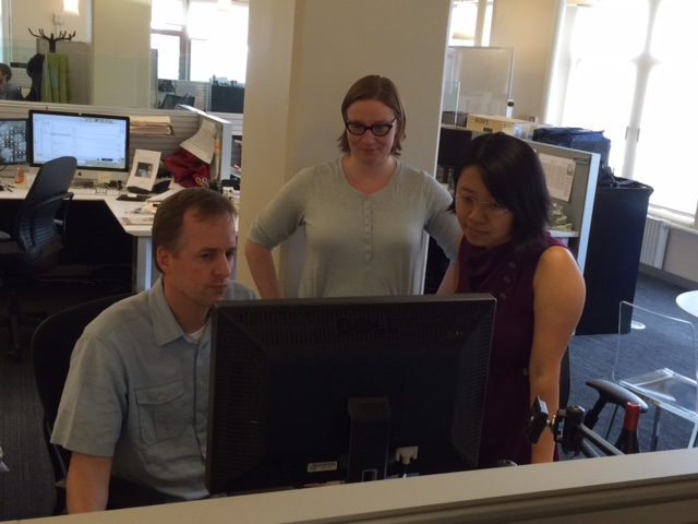 The reporting team at ProPublica's headquarters in New York City.