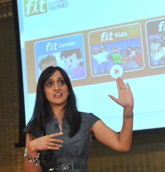 Dr. Hansa Bhargava at the launch of the website, Web MD Fit Kids, a new national initiative aimed at promoting health and wellness and preventing childhood obesity among kids ages 2-18.