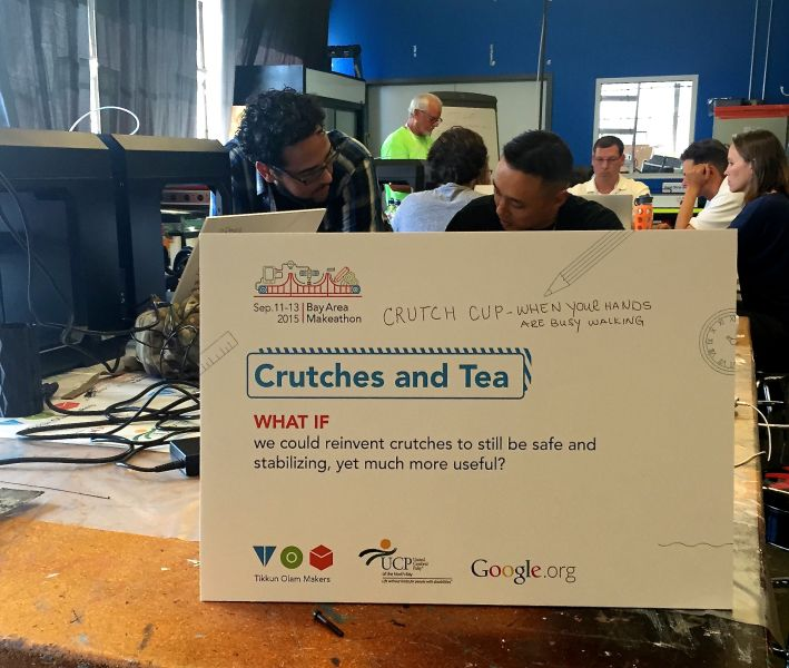 Teams assembled at TechShop in San Francisco over the weekend, worked on developing assistive technology products.