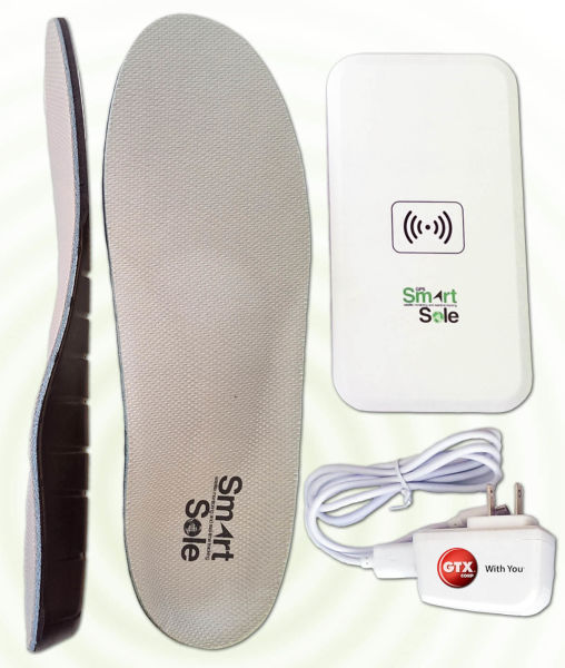 The SmartSole device and charger.