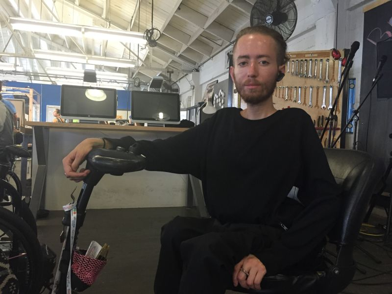 "Danny Kurtzman, who has muscular distrophy, said being able to virtually surf via Specular Theory's demo gave him ""goosebumps."""
