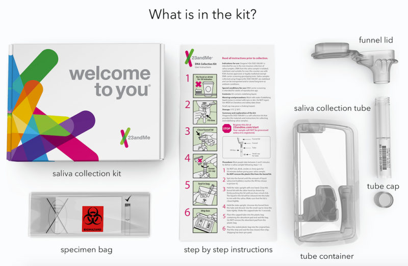 You don't need a doctor's note to purchase 23andMe's genetic testing kit.