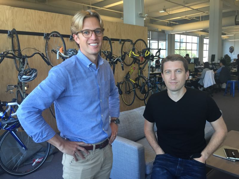 Stride Health's founders Noah Lang (left) and Matt Butner (right)