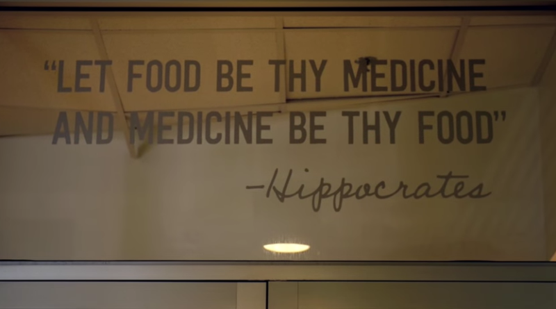 The writing on the wall at Tulane's center for Culinary Medicine.