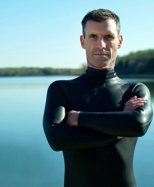 Lecomte will gather data on the environment and on his own health during the Pacific swim.