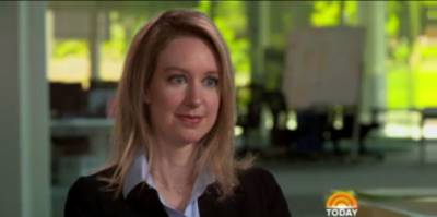 Elizabeth Holmes discussing Theranos' problems last week on the 'Today' show.