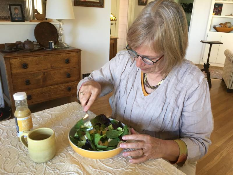 Judy Maggiore eats a salad everyday for lunch.