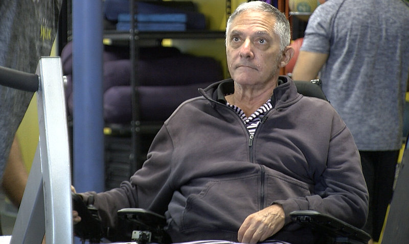 Jim Gass is pictured at a Project Walk's paralysis recovery center in Carlsbad, July 20, 2016.