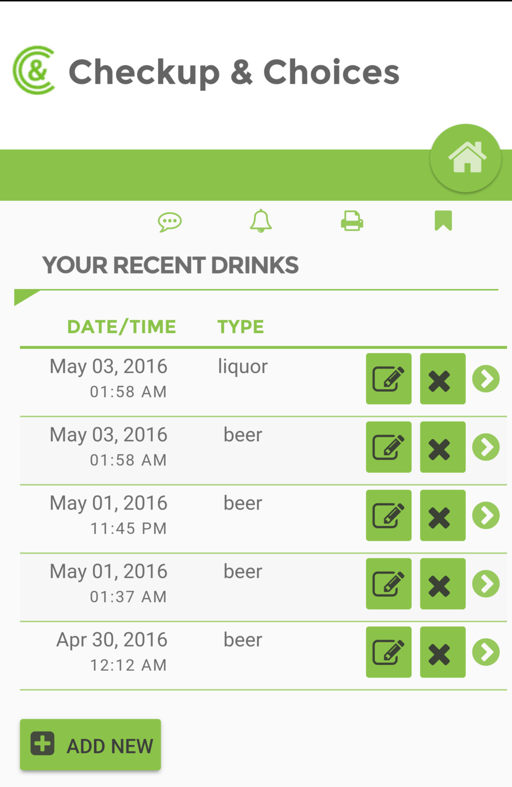 Checkup & Choices screenshot.
