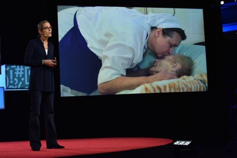 Documentary filmmaker Carolyn Jones shared the story of Sister Stephens, a Wisconsin nurse who helps dying patients in their final days.