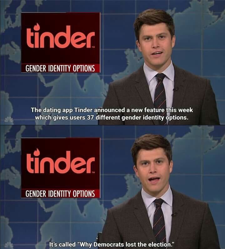 Colin Jost of 'Saturday Night Live' was criticized for this joke about gender identities after the election.