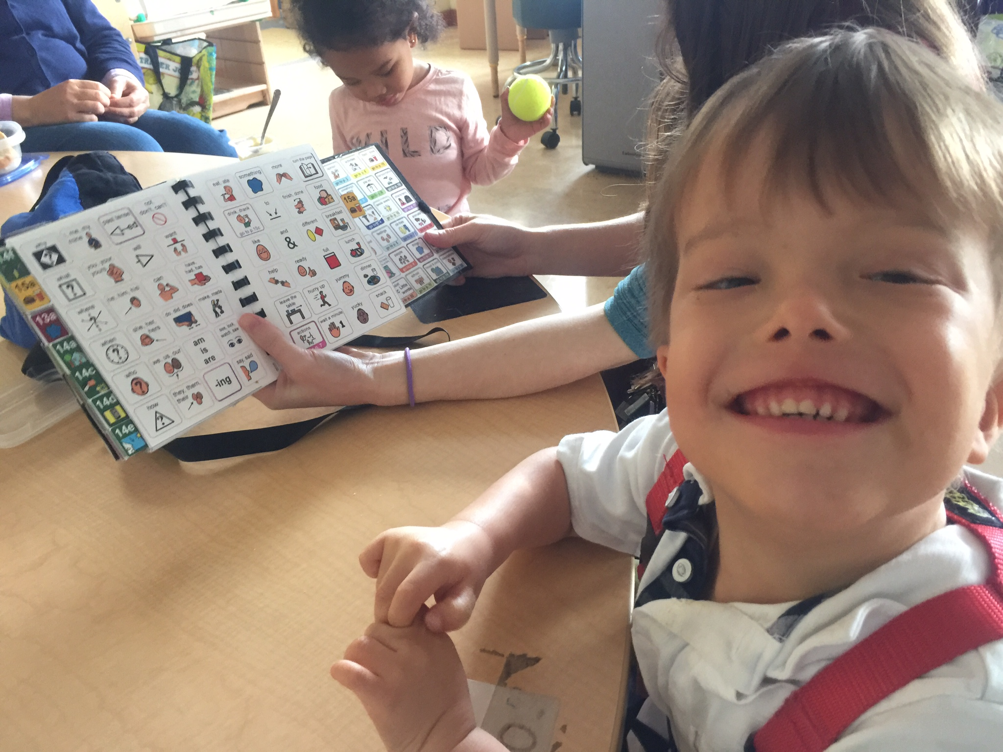 """Milo Lorentzen is learning to read and speak using an alternative language method that incorporates symbols and pictures. He now reads at or above grade level. """"He was starting to have behavioral issues until we gave him this method,"""" says his mother, Karen Park. """"Now Milo has a voice."""""""