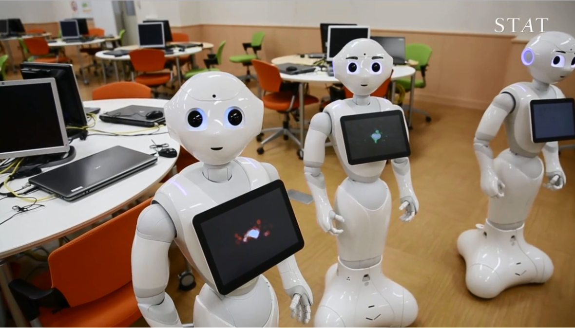 WATCH: In Japan, the Robots Are Already Here, Hanging Out With Older Adults