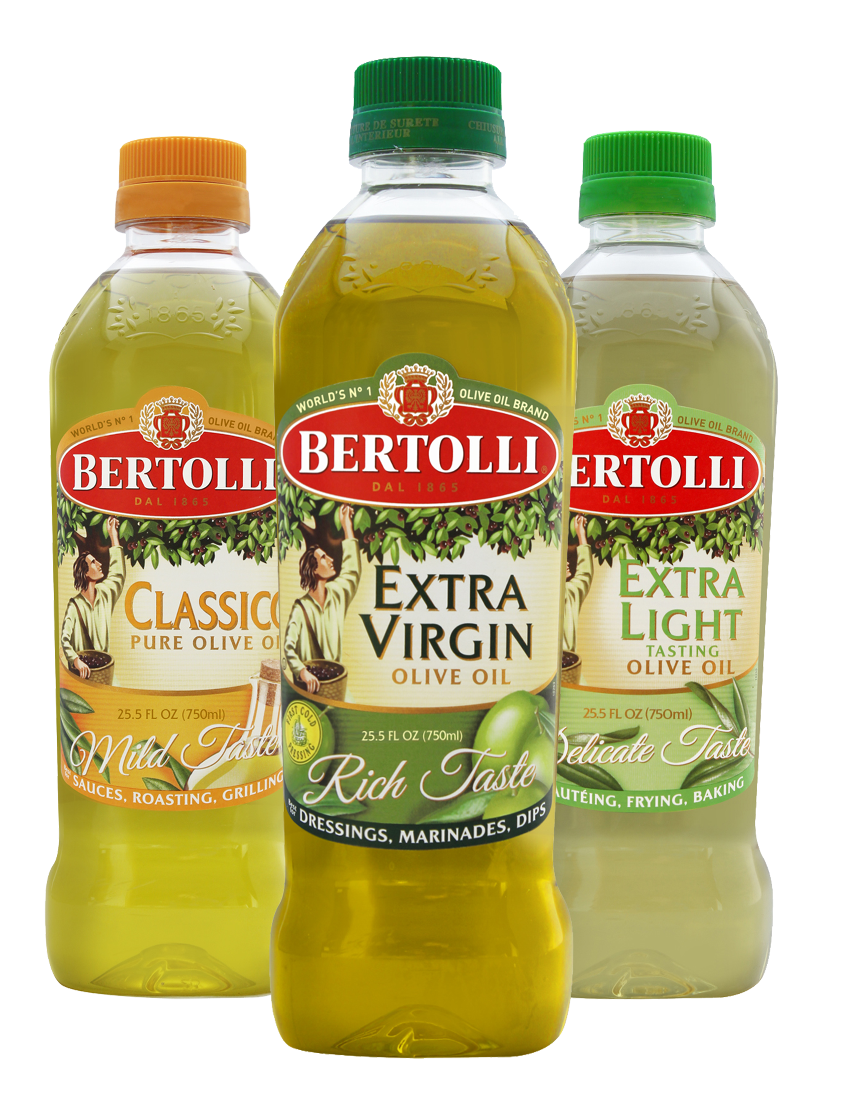 3 varieties of Bertolli Olive Oil