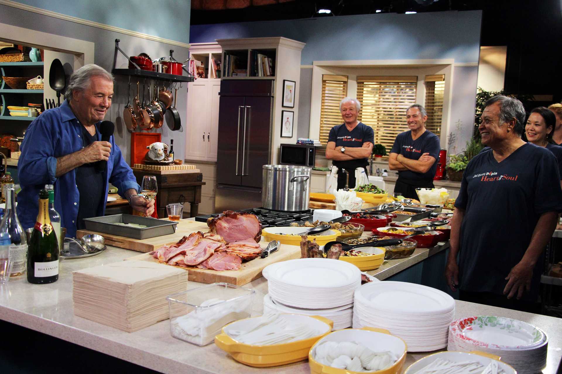 Photos From The Set Of Jacques Pepin Heart Amp Soul Jacques