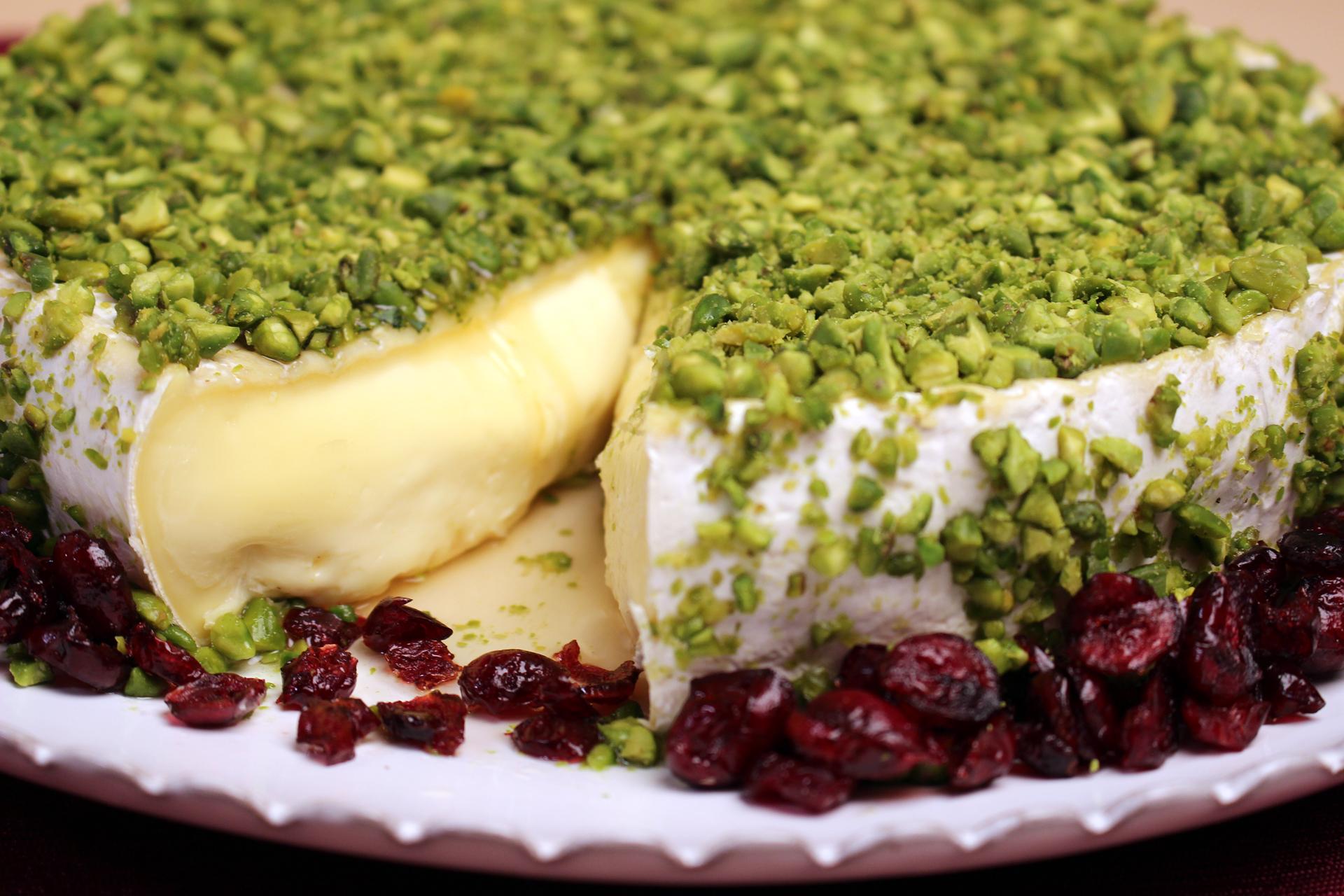 Camembert with Pistachio Crust