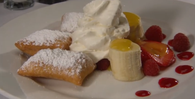 Beignets with Fresh Fruit
