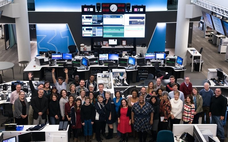 The Morning Edition staff (and some colleagues), at NPR headquarters in Washington, D.C.