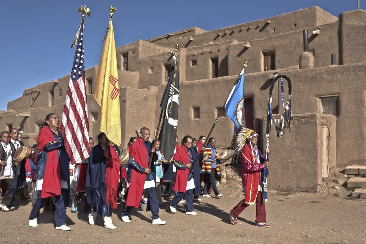 Taos Pueblo blue Lake Commemoration Grand Entry