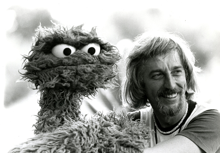 Oscar the Grouch and Caroll Spinney. (Courtesy PBS)