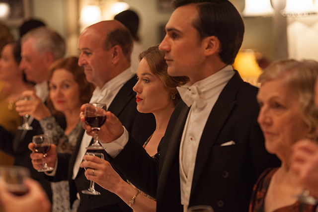 Left to right: Jemima West as Alice Whelan and Henry Lloyd-Hughes as Ralph Whelan. ((C) New Pictures and Channel 4 for MASTERPIECE in association with All3Media International)